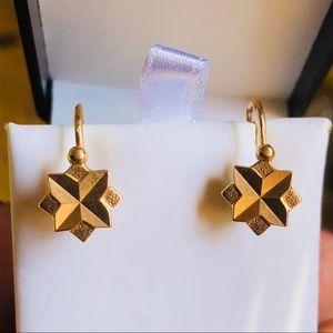 Jewelry - Vintage Soviet Russian Stamped 583 14k Earrings